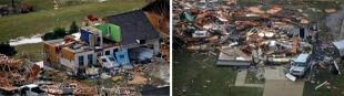 Tornado zrujnowało amerykańskie miasto. Jedna osoba trafiona piorunem