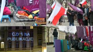 """Drugi dzień protestu przed KPRM. """"Kulminacja po południu"""""""