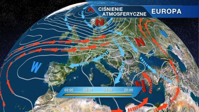 Niż znad Skandynawii rządzi pogodą w Polsce