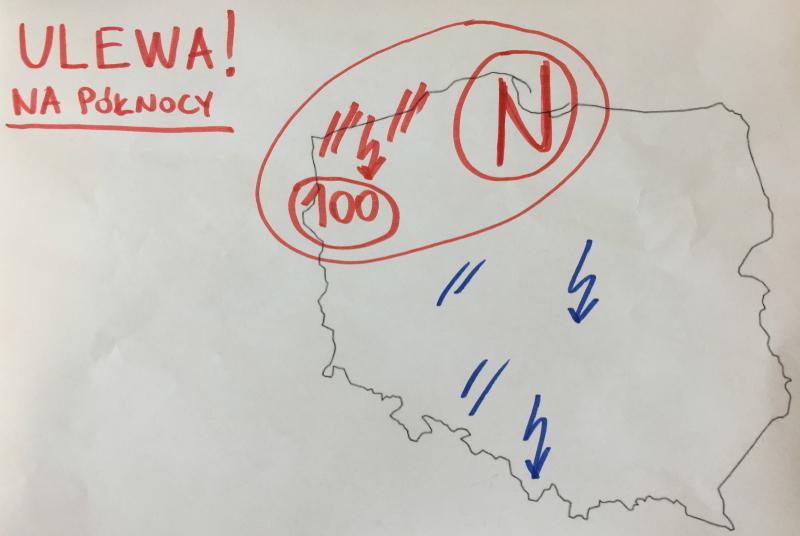 Nad północą Polski mogą występować ulewy