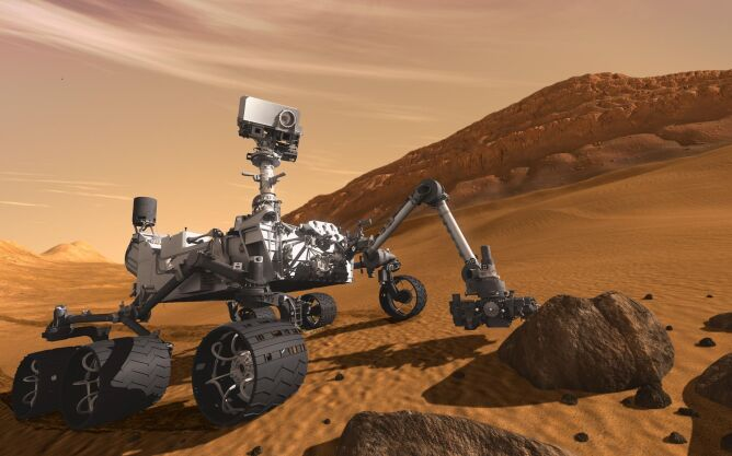 Sonda badawcza Curiosity Rover na Marsie (NASA)