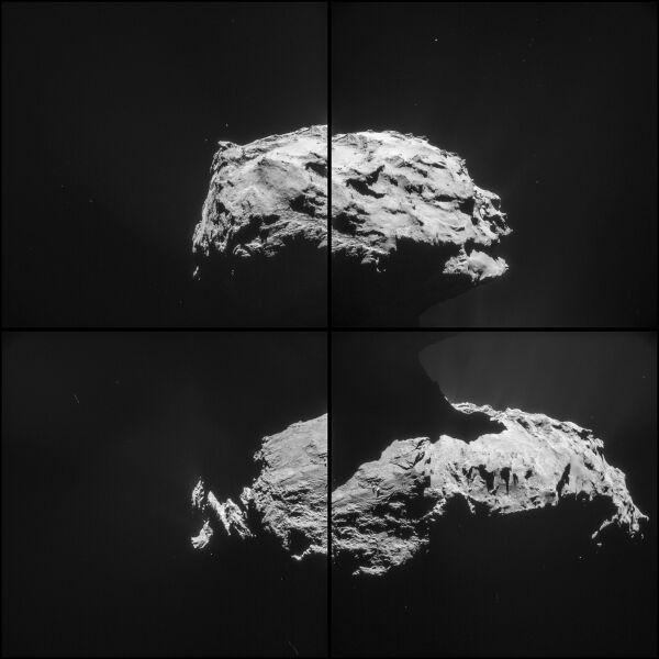 Zdjęcie komety 67P/Churyumov–Gerasimenko zrobione z odległości 31,6 km od centrum