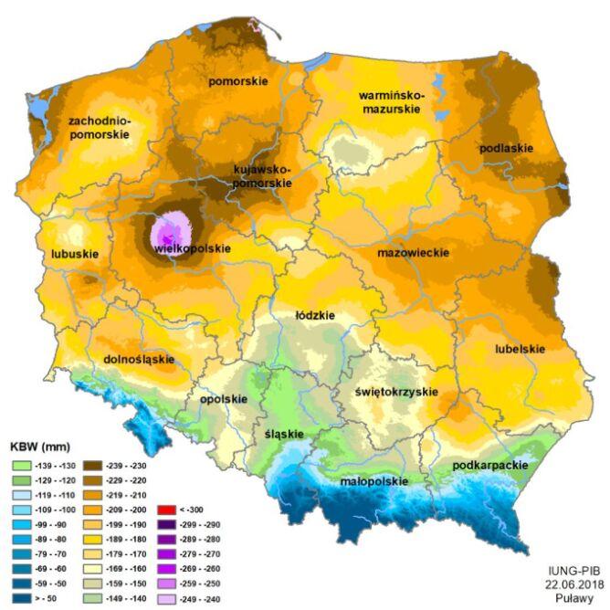 Klimatyczny bilans wody (IUNG)
