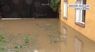 Zniszczenia w Zebrzydowie (TVN24)